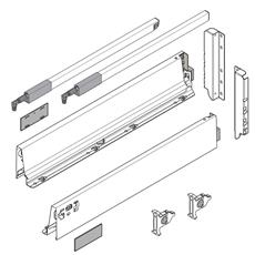 BLUM TANDEMBOX SZARY szuflada 270mm wys. D komplet-4995