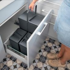 Pojemniki na odpady UNICO szuflada 900mm 3 wiadra-6993